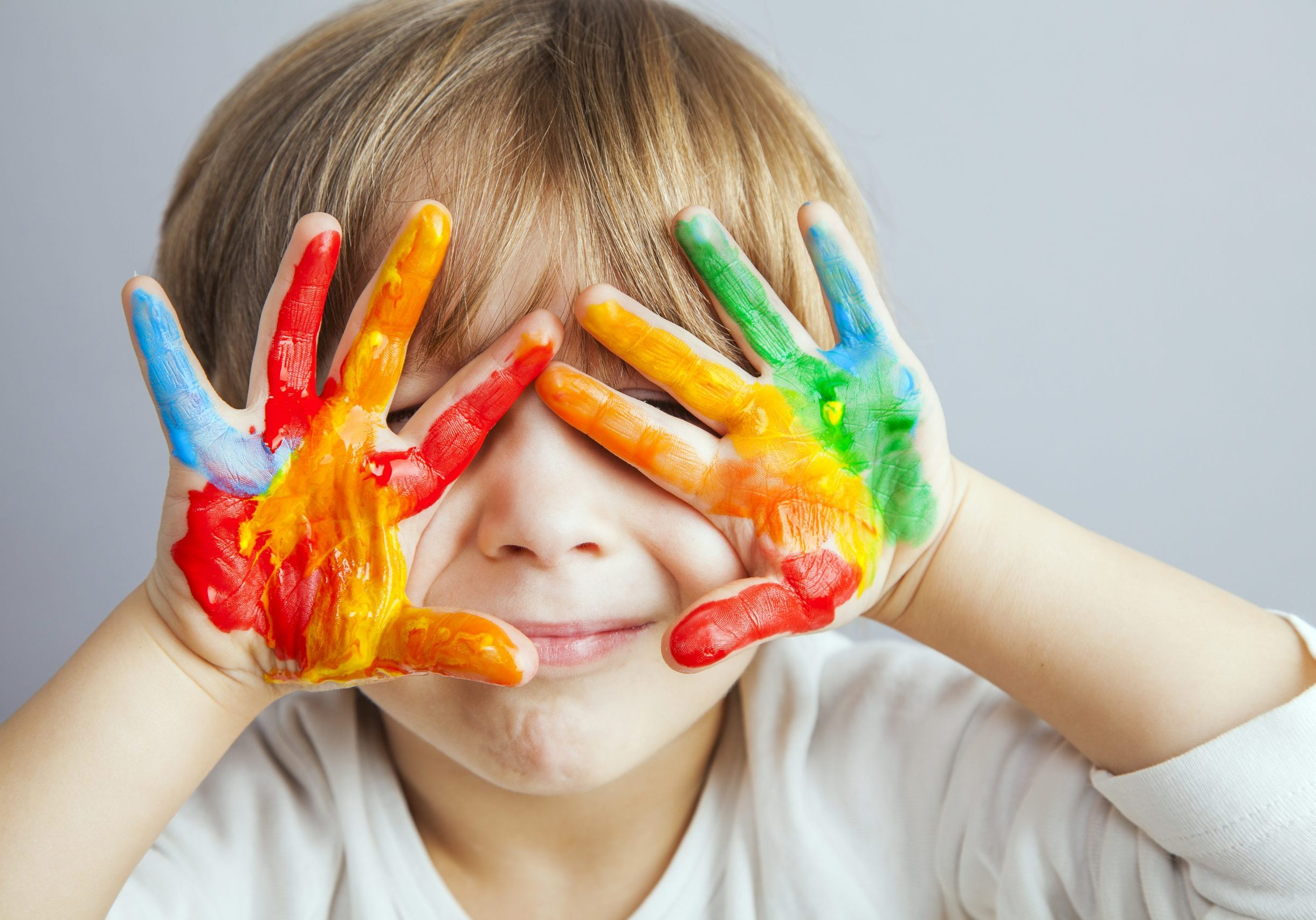 colorful hands kid